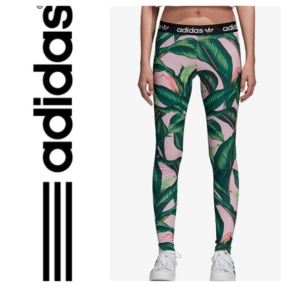 c615d8cc2 New Adidas Originals Farm Big Leaf Leggings Multi
